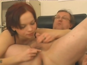Nurse rims her mature patient and gets laid