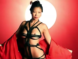 Japanese model strips from her kimono