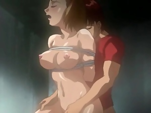 Anime girl lets her boyfriend tie her up