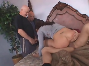 Wife deepthroats and fucks a new guy