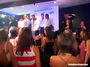 Nightclub sluts suck dick and drink champagne