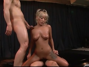 Tanned body of a Japanese girl fucked hardcore