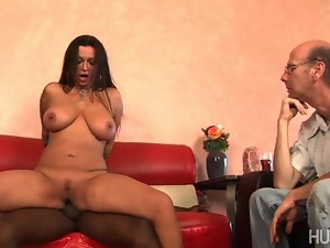 Nikita Denise husband can not get it up, so she brings in a stud with a big cock to fuck her sweet pussy hard!