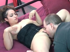 Blowjob from a cute curvy girl