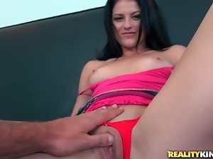 Petite girl masturbates on camera for first time
