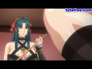 Hentai babe gets her holes screwed up