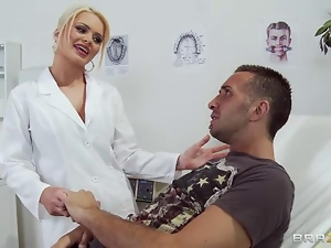 Dirty doctor Alexis Ford gives this patient a check up