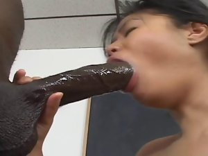 Black dong for her holes