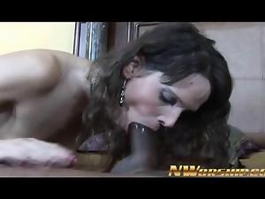 hot milf mom brunette blowjob and ride a big black