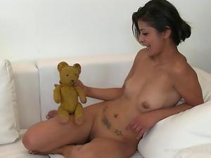 Slippery wet pussy pleasuring