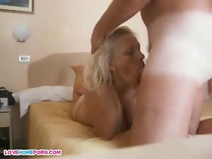 Wife takes it by her man