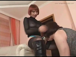 Girl fucks crossdresser