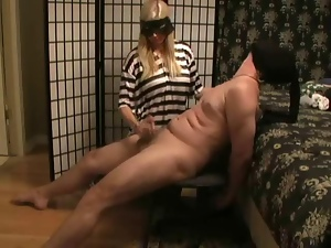 Sluts milking,massaging cocks with their feet and giving handjob i...
