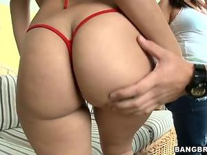 Gal sucks dick before sex
