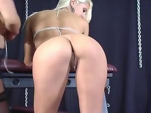Bondage Bitch Has Her Pussy Ramm...