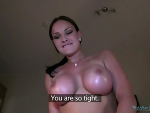 Hot pornstar Abbie gets pussy pounded