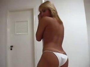 Blonde TS Stripper Solo