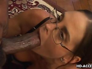 Experienced Cheyenne Hunter milks a BBC dry