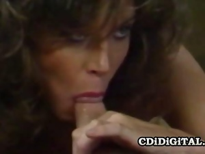 Tracey Adams  Retro Pornstar Kitchen Blowjob