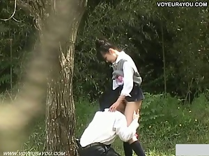 Asian amateur couple outdoor fuck