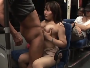 Hot japanese babe fucked on the bus