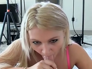 First casting for blonde babe amber