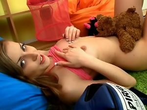 Cute russian spynky bee striptease