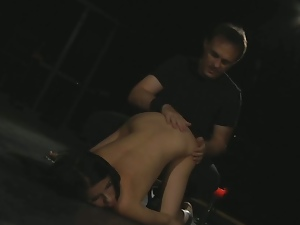 Slave tied & fucked in all positions