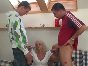 Grandma pounded from both ends