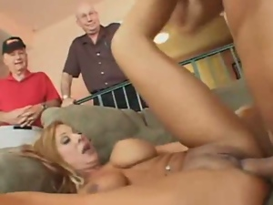 Fucked hard while hubby watches