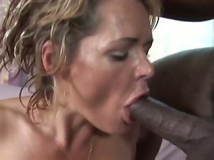 Hot milf takes huge black cock