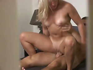 Blonde riding cock on hidden cam