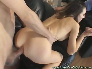 Horny housewife is ready for anal