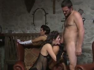 Italian sluts serve one guy