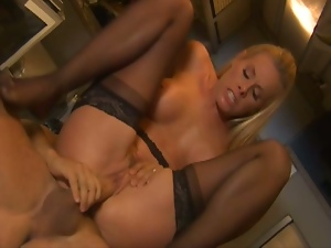 Adorable blonde fucked in the ambulance