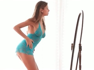 Smoking hot young body dancing in lace lingerie