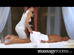Massage Rooms Tender loving care for his very big cock