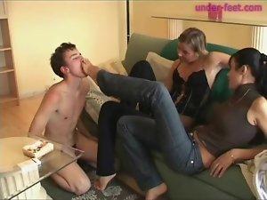 Smoking fetish femdom with heavy foot play