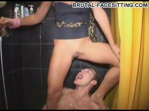 Babe rides his face and pisses on him