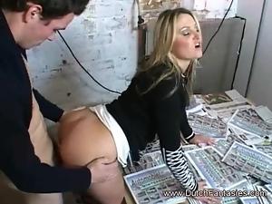 Blonde Secretary Enjoys The Hardcore Sex Challenge