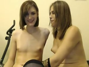 Amateur transsexual lezzies play together