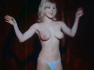 Vintage - Light-haired in Blue Lingerie Dances