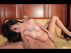 Asian transsexual New gets her bum walls grinded