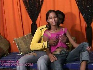 nice looking seductive indian slutty girl banged