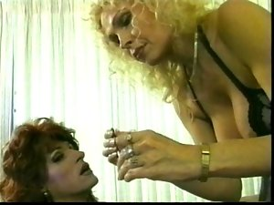 Crazy aged & her Tgirl slave