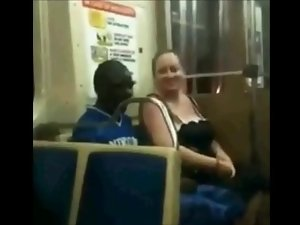 Fatty Whore Suck Ebony Pecker On The Train