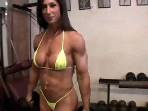Woman Bodybuilder Flex