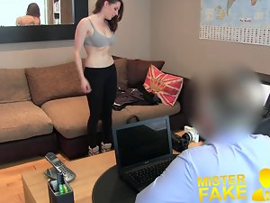 MisterFake Splendid 19yo English lass gets anus creampie casti