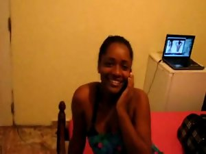African Naughty ebony Black Prostitute getting crushed in Hotel