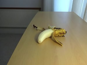 cum on food - banana
